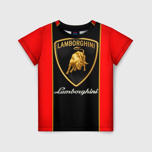 Детская 3D футболка с принтом Lamborghini, вид спереди #2