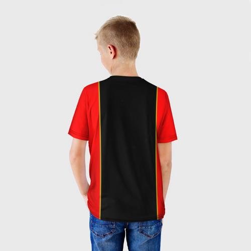 Детская 3D футболка с принтом Lamborghini, вид сзади #2