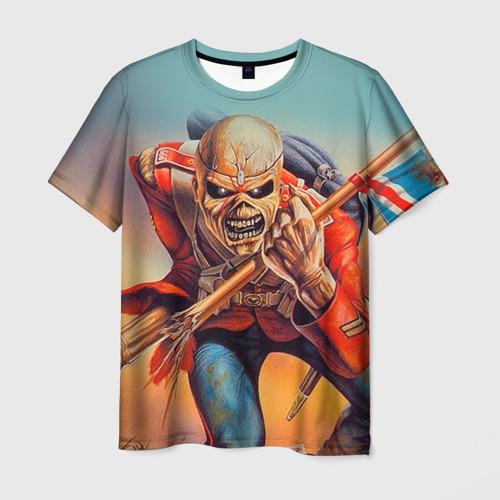 Мужская 3D футболка с принтом Iron maiden 5, вид спереди #2