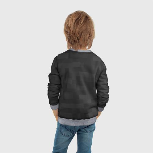 Детский 3D свитшот с принтом Редстоун, вид сзади #2