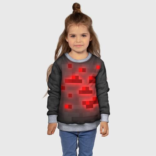 Детский 3D свитшот с принтом Редстоун, фото #4