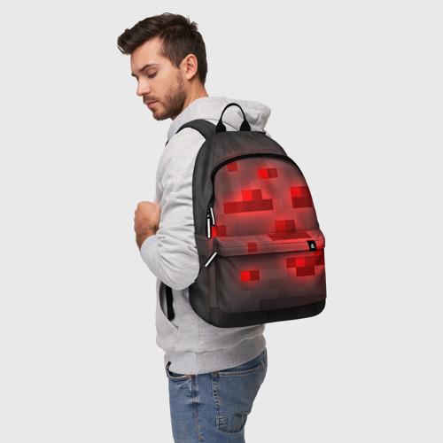 Рюкзак 3D с принтом Редстоун, фото на моделе #1