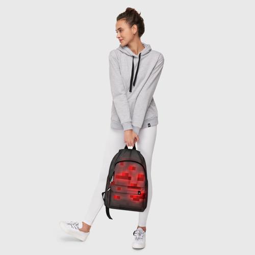 Рюкзак 3D с принтом Редстоун, фото #6
