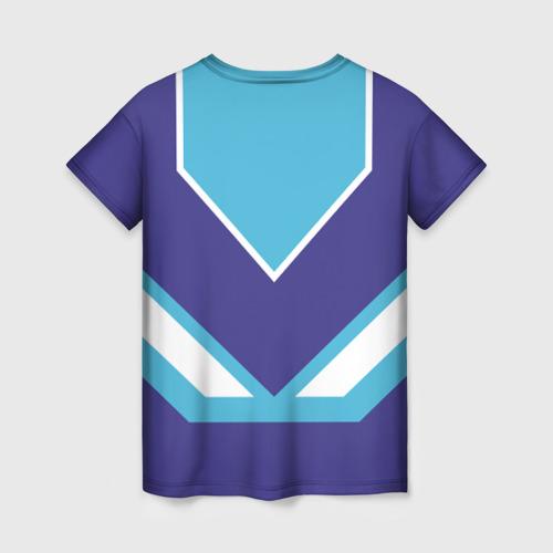 Женская 3D футболка с принтом Сладкая Лена, вид сзади #1