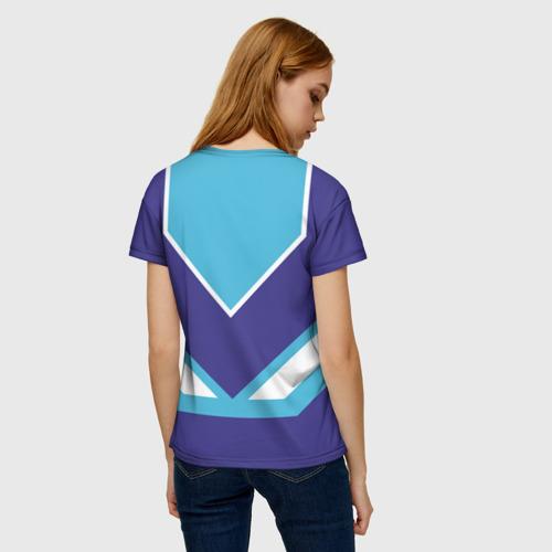 Женская 3D футболка с принтом Сладкая Лена, вид сзади #2