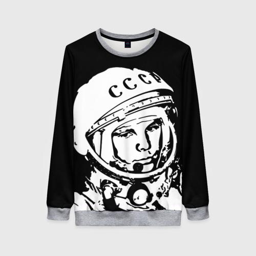 Женский 3D свитшот Гагарин 9