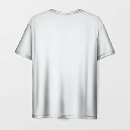 Мужская 3D футболка с принтом Гагарин, вид сзади #1