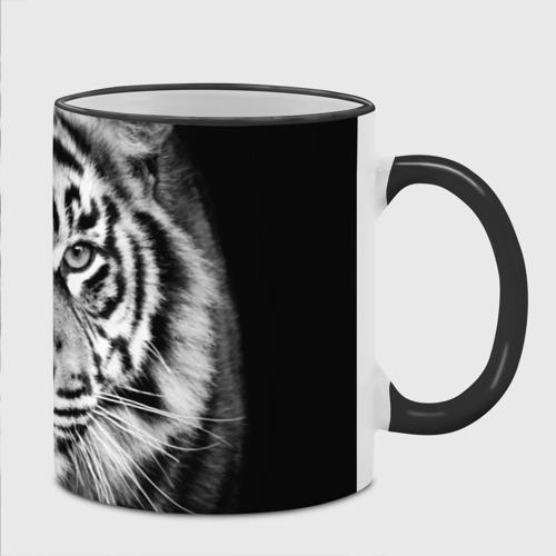 Кружка с полной запечаткой с принтом Красавец тигр, фото на моделе #1
