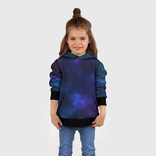 Детская 3D толстовка с принтом Звёздное небо, вид сбоку #3