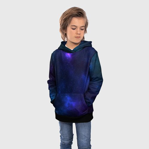 Детская 3D толстовка с принтом Звёздное небо, фото на моделе #1