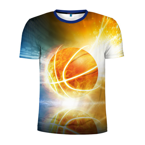 Мужская футболка 3D спортивная с принтом Баскетбол - жизнь моя, вид спереди #2
