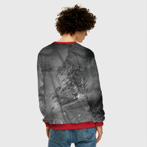 Мужской 3D свитшот с принтом Red maсhine, вид сзади #2