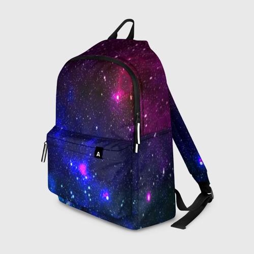 Рюкзак 3D с принтом Звёзды, вид спереди #2