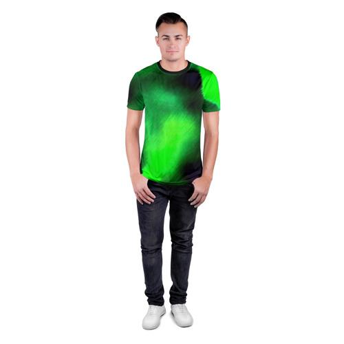 Мужская футболка 3D спортивная с принтом Заштриховка, вид сбоку #3