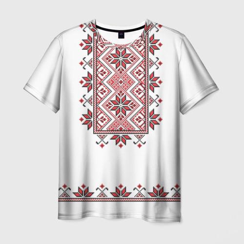 Мужская 3D футболка Вышивка 41