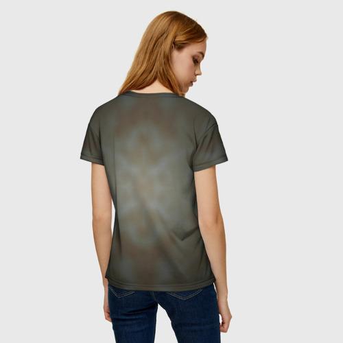 Женская 3D футболка с принтом Рыжий, вид сзади #2