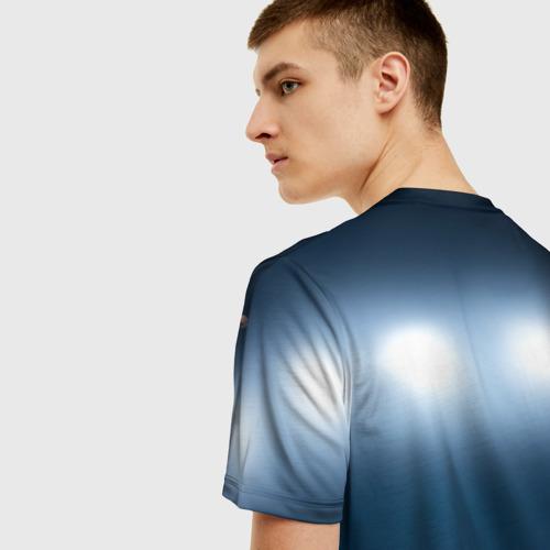 Мужская 3D футболка с принтом Волейбол 4, вид сзади #2