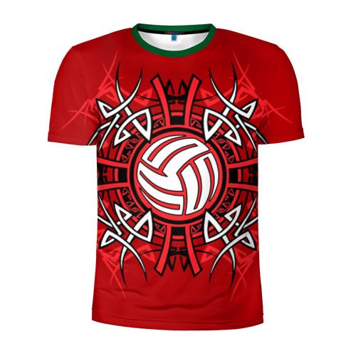Мужская футболка 3D спортивная с принтом Волейбол 34, вид спереди #2