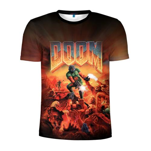 Мужская футболка 3D спортивная Doom 1993