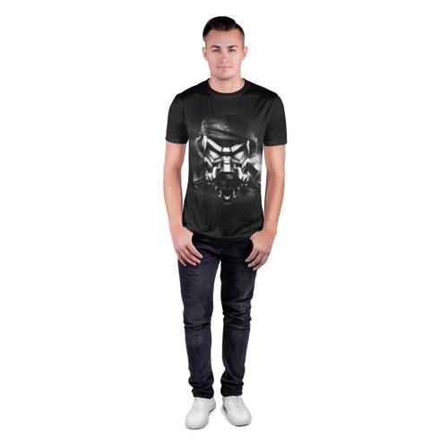 Мужская футболка 3D спортивная с принтом Пиратская станция 6, вид сбоку #3