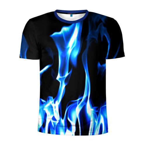 Мужская футболка 3D спортивная Огонь