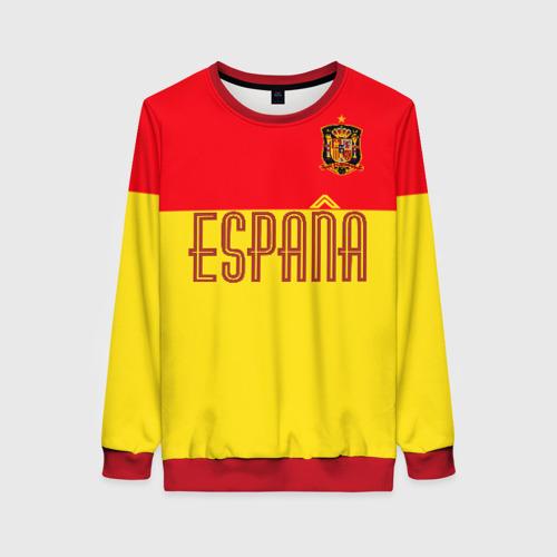 Женский 3D свитшот Сборная Испании по футболу