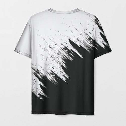 Мужская 3D футболка с принтом Краска и ничего лишнего!, вид сзади #1