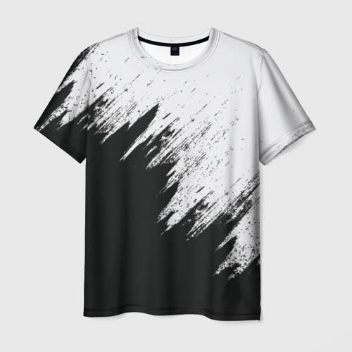 Мужская 3D футболка Краска и ничего лишнего!