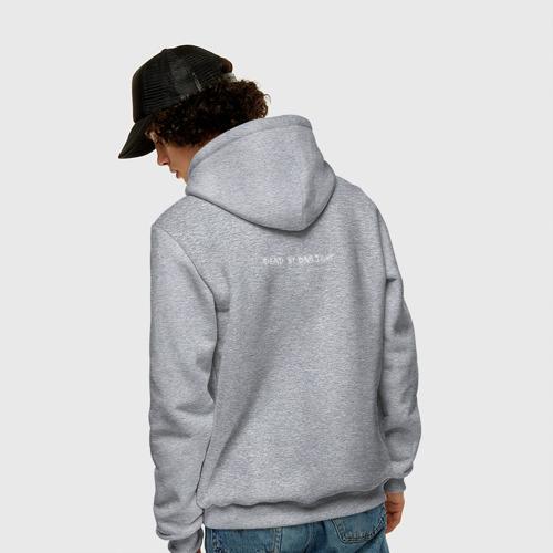 Мужская толстовка-худи с принтом Dead by Daylight White Logo, вид сзади #2