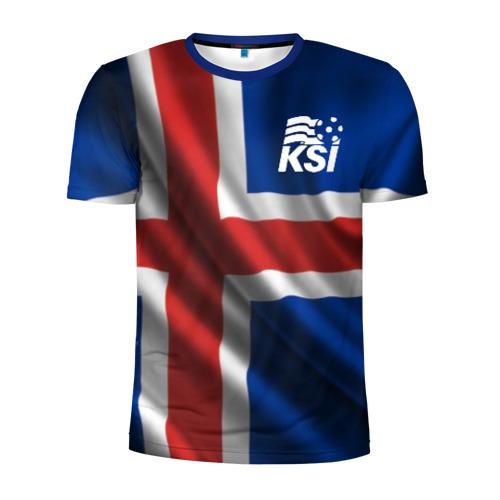 Мужская футболка 3D спортивная с принтом Исландия, вид спереди #2