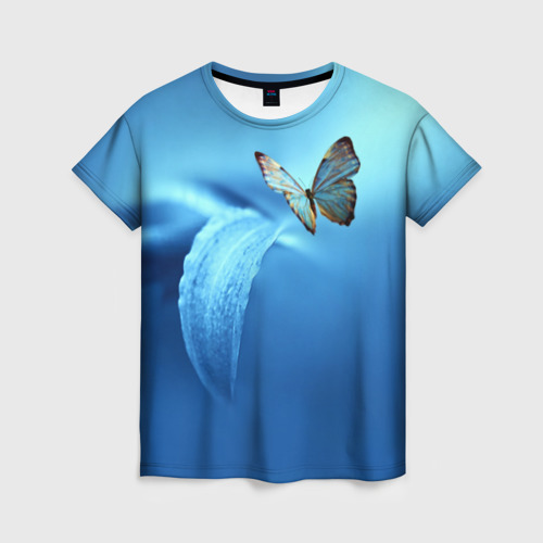 Женская 3D футболка Бабочка 2