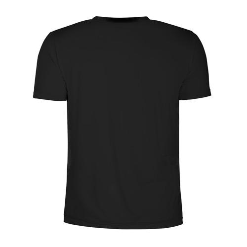 Мужская футболка 3D спортивная с принтом Чёрная пантера, вид сзади #1