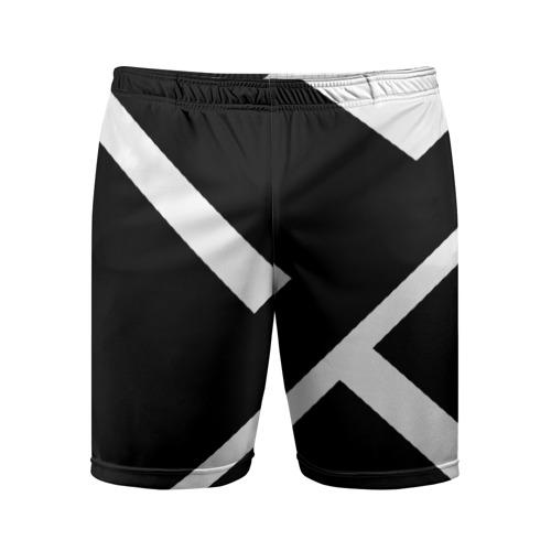 Мужские шорты 3D спортивные Black and White