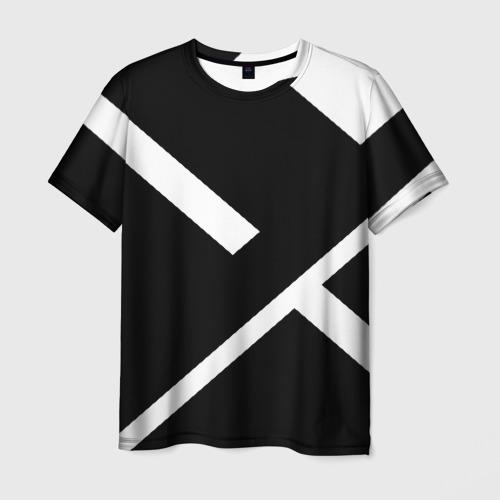 Мужская 3D футболка Black and White