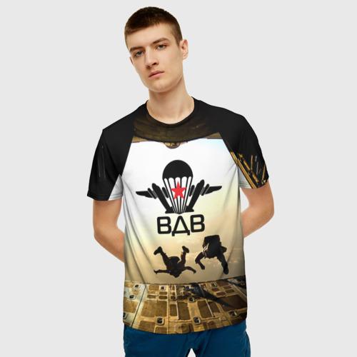 Мужская 3D футболка с принтом ВДВ, фото на моделе #1
