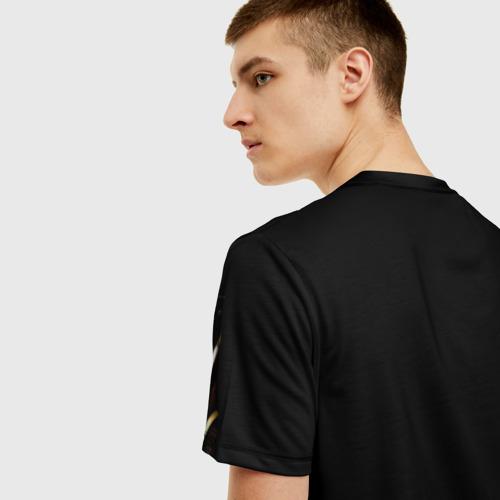 Мужская 3D футболка с принтом ВДВ, вид сзади #2