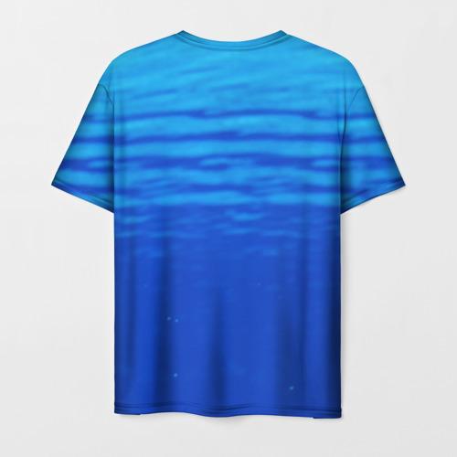 Мужская 3D футболка с принтом Дельфин, вид сзади #1