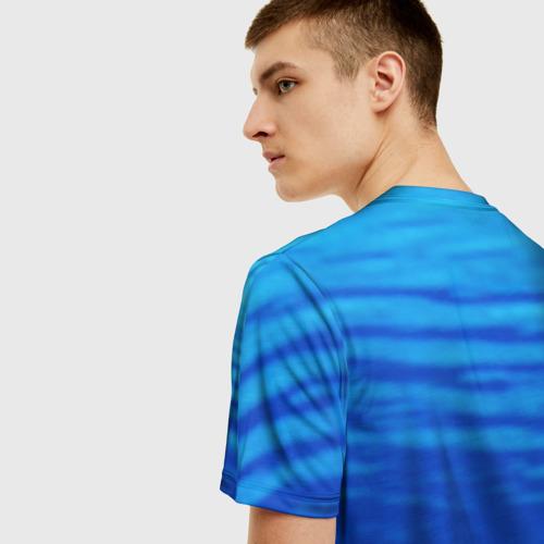 Мужская 3D футболка с принтом Дельфин, вид сзади #2