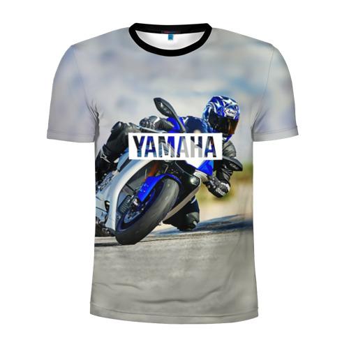 Мужская футболка 3D спортивная с принтом Yamaha 5, вид спереди #2