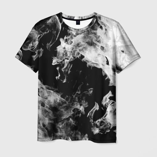 Мужская 3D футболка Дым