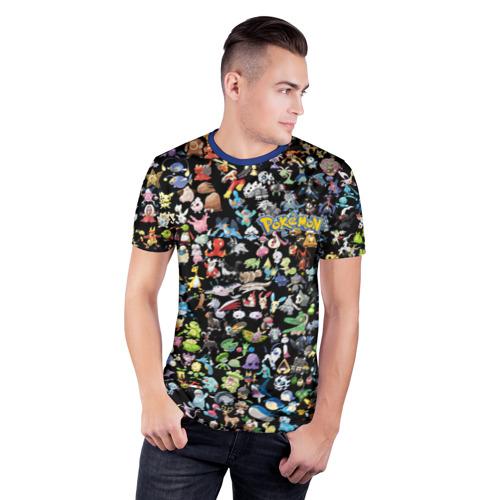 Мужская футболка 3D спортивная с принтом Покемоны, фото на моделе #1