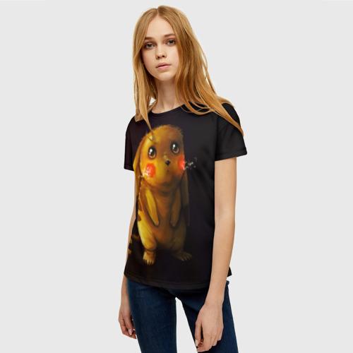 Женская 3D футболка с принтом Пика-Пика?, фото на моделе #1