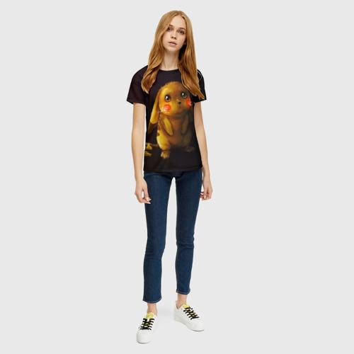 Женская 3D футболка с принтом Пика-Пика?, вид сбоку #3