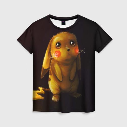 Женская 3D футболка с принтом Пика-Пика?, вид спереди #2