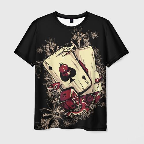 Мужская 3D футболка Карты дьявола