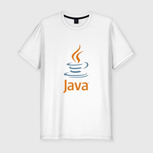 Мужская футболка премиум с принтом Java, вид спереди #2