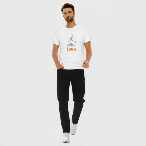 Мужская футболка премиум с принтом Java, вид сбоку #3