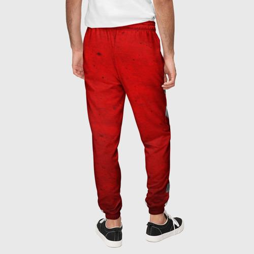 Мужские брюки 3D с принтом Флаг СССР: Серп и Молот, вид сзади #2