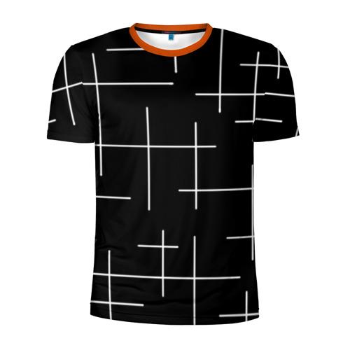 Мужская футболка 3D спортивная Geometric (2)