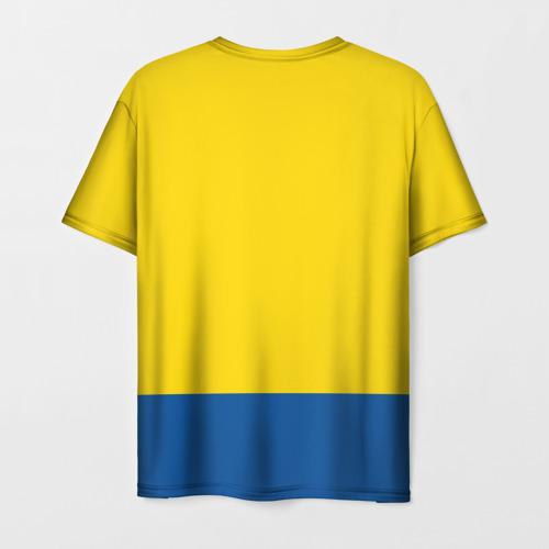 Мужская 3D футболка с принтом Сборная Швеции по Хоккею, вид сзади #1